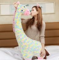 Free shipping The giraffe plush pillow giraffe soft stuffed doll 80cm size