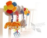 Free shipping  animal baby bed circle/bed round multipurpose baby plush toy music flower
