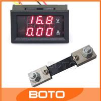 5 PCS/LOT DC Digital Voltmeter Ammeter 2-in-1 YB27-VA 0-100V/100A Red LED Amper Voltage Measure + Resistive Shunt #200941