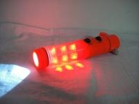 New type multifunctional flashlight car escape hammer multifunctional safety hammer rope knife
