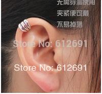 Koreaear clip 18K plated earring no pierced ear cuffs zircon earrings 2014 new U-type ear clips girl