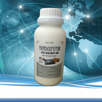 High Quality White Eco Solvent Ink For Printing On Plastic,Leather,Metal,Glass etc. 100ml ink+500ml coating