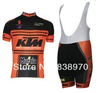 New Arrival ! 2014 KTM Bike Cycling Jersey and bicicleta bib Shorts Ciclismo Clothing MTB AS789