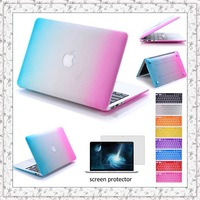 3in1 Grind Arenaceous Case+keyboard cover+film for Apple Laptop Cover For Mac Book Air 11/Air 13/Pro 13/Pro 15/New Pro Retain 15