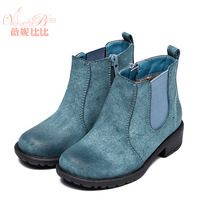 2014 England retro-style princess botte fille brand Martin boots fur one for the big mom girl / boy's kids shoes in winter