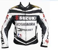 Suzuki PU Leather jacket.Motocross,racing,motorcycle,motorbike,bicycle,motor jacket