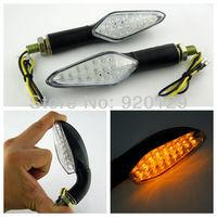 2x Universal Motorcycle Amber 18 LED Turn Signal Indicators Light For HONDA CB CBF CBR Shadow Gold Wing