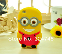 Despicable Me Cartoon Soft Silicone Gel Rubber Case Cover Cute Smile Big Eye More Minions Skin for iphone 4 4s 5s 5C Six styles