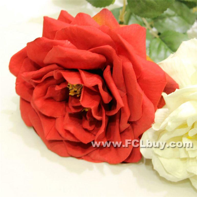Artificial 36 Curly Pétalas de Rosa Pano Flor Artificial plástico Stem Simulação Rose alta Quality90cm(China (Mainland))