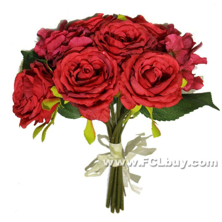 6 chefes Artificial britânico Style Rose Bouquet pano flor Artificial Plastic Stem simulação Rose(China (Mainland))