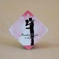 Free Shipping 30 pcs Personalized Rhombus Romance Wedding Favor Tag/Wedding Decoartion/Garden Supplies