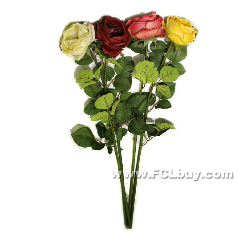 1Head PU Artificial flor de plástico tronco Pano Folhas Simulação único PU Rose alta Quality73cm (não incluindo o vaso)(China (Mainland))