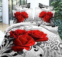 100% cotton luxury 3d bedding sets bedclothes king queen 3D bedding set luxury duvet cover set