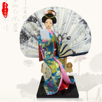 Free shipping hot selling fashion japanese style doll decoration home furnishings lady doll silk figure