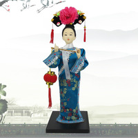 Free shipping hot selling fashion chinese vintage gifts oration doll home decoration silk figure crafts