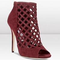 Hot sale JC bootie women high heels JC female boots cross mesh peep toe short women boots spot goods supply free shipping