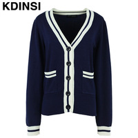 High quality women's spring 2014 fashion style female models Naval Academy women's cardigan sweater coat