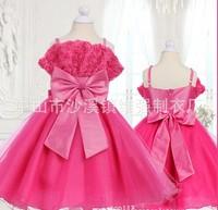 Fashion girls dress 2014 summer girls sleeveless braces dress princess dress kid's dresses CD3