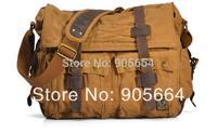 Free shipping.genuine leather bag,brand fashion canvas handbag.crazy horse,shoulder bag.briefcase.totes big,style