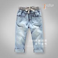 New arrival 2014 kids summer denim short pants soft boys girls fasion pants unisex