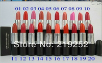 free  shipping!New lustre lipstick rouge Lipstick 20 colour with English name (20pcs/lot)