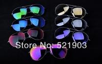 2014 VB new fashion pilot style Highest quality Mirror lenses Polarized sunglasses man women Victoria beckham With Original box
