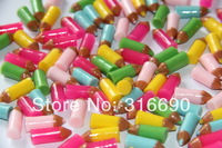 Mixed color  flat back pencil part resin cabochons for jewelry or cell phone decoration
