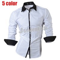 Mens Fashion Cotton Designer Cross Line Slim Fit Dress man Shirts Tops Western Casual  1073