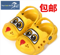 Cartoon slippers summer child 14 slip-resistant slippers male chiddler hole shoes