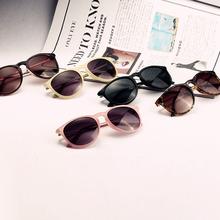 metal perna quadro óculos moda retro nova ronda queda óculos óculos de sol das mulheres frete grátis(China (Mainland))