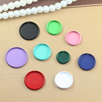 """New Arrival & Free Shipping:""""480 pcs/lot""""Color Round Blank  Cabochon Base Made Of Copper 12mm Insert"""