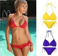 Sexy Bikini Swimwear 2014 New VS Shipping Brand Swimsuit Brand Free Style Women Summer Gift Red Green 10 Color Cheap wholesale