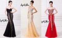 2014 Long Full Beaded Shine Mermaid Evening Dress Sweetheart Floor Length Crystal Beads Long Party Dress Night Dress BE-117