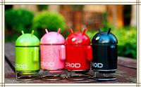 Android robot  TF Card USB flash disk  Speaker  Mini Speaker MP3 Player HIFI sound