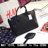 2014 women's handbag big bag fashion beige PU mango women's fashion handbag Office lady bag