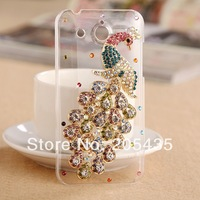 Huawei Honor Case Rhinestone Peacock Camellia Floral Diamond Camellia Case For Huawei Honor U8860 Skin Cover Phone Shell