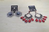 [Clear inventory] only 1 pari in stock Fashion Jewelry Women's vintage drop earrings retro metal earrings Cheap