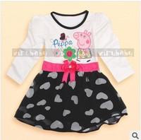 Wholesale! 5pcs/lot cartoon dress for flower girl cute princess dress summer clothing girl's long-sleeve tutu dresses
