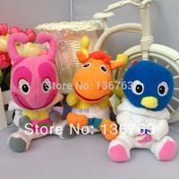 12cm Free shipping The Backyardigans Uniqua/Tyrone/Pablo plush toy baby soft toys backyardigans