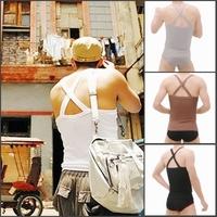 100% basic cotton spaghetti strap fitness slim 100% men's cotton vest fashionable casual male underwear