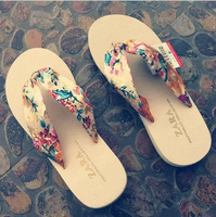 2014 bronzier flip flops summer bohemia female sandals fashion clamping jaw sandals sandalias