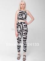 KESH X American Apparel 2NE1 black white eyes Lo shi short vest High elastic straps Leggings suit