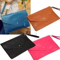 fashion envelope handbag day clutch pu leather Purse and Handbags party wedding bag cross body 4 color 3138