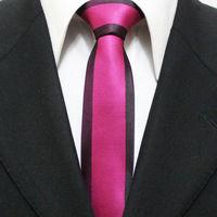 New Arrival Mens Fashion Skinny Neckties For Man Fuschia With Purple Novelty Neck Ties Gravatas 5CM F5-F-6