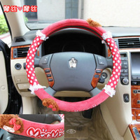 Sales promotion Saw doll cartoon car steering wheel cover lace car cover winter plush