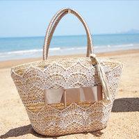 2014 women's handbag lace tassel casual woven bag shoulder bag straw bag
