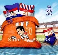 2014 new National soccer team of Netherlands Europe football RVP VAN PERSIE bedding cotton queen full duvet cover bedclothes set