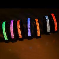 Drop shipping LED Personalized Dog Nylon Flashing Glow New Pet Light Safety Collar 6 Colors SL00310