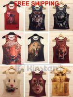 men summer tank top animal print mens o-neck Fashion vest 3D printed muscle shirt for man a-shirt streetwear men basic undershir