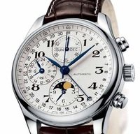 Top swiss brand Automatic Mechanical watch Calendar Date Moonphase Business Men's Watch L2.673.4.78.3